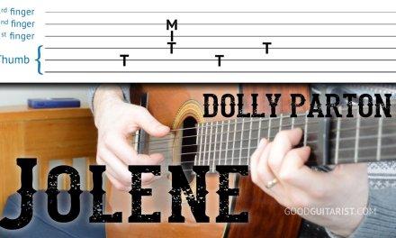 """Jolene"" Guitar Tutorial – Dolly Parton | Easy Fingerpicking + Strumming + Intro"
