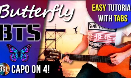 BTS BUTTERFLY guitar lesson, chords & tab