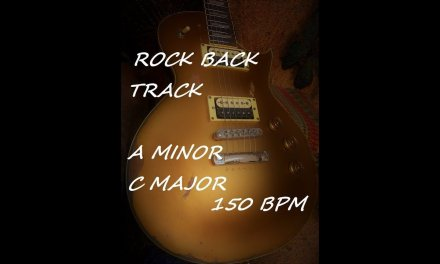 Backing Track A minor C Major Rock Guitar