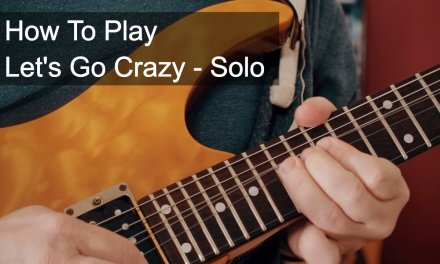 Prince  – Let's Go Crazy Guitar Solo Tutorial