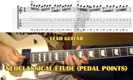 Neoclassical Etude (Pedal Points) GUITAR LESSON with TAB