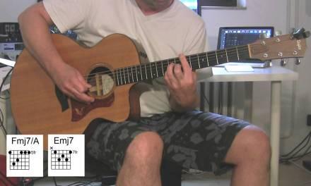 """""""American Boy"""" Acoustic Guitar, original vocals, chords, Estelle, Kanye West"""