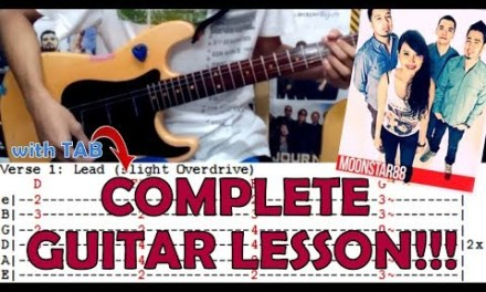 Torete – Moonstar88(Complete Guitar Lesson/Cover)with Chords and Tab