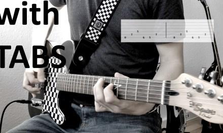 Metallica – Enter Sandman (Intro) Guitar Cover w/Tabs on screen