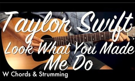 Taylor Swift – Look What You Made Me Do Guitar Lesson Tutorial / Guitar Cover How To Play chords