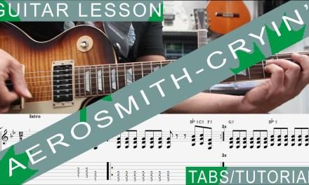 Aerosmith, Cryin' COMPLETE Guitar Lesson, Solo, Chords, Riffs, Licks, Harmonica