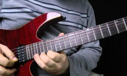 Terrifying 4 note per string – alternate picking – Guitar Lesson