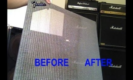 how to repair and clean tolex fender 4×12 guitar amp speaker cabinet