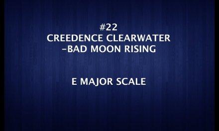 BEGINNER GUITAR LESSON-#22- BAD MOON & E MAJOR SCALE