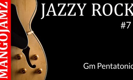 Jazzy Rock Guitar Backing Track  in G Minor