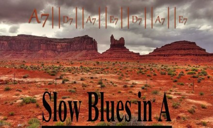 Slow Blues – Backing Track in A – 78bpm