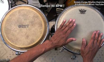 EASY Congas Rhythm Exercise Latin Percussion Lesson Guitar Tutorial Lesson EBMTL HD