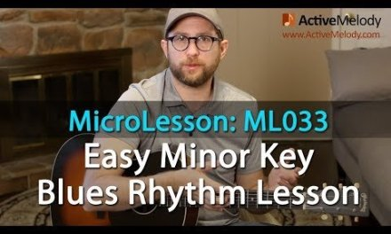Learn an easy Minor Key Blues Rhythm in this Blues Rhythm Guitar Lesson – ML033