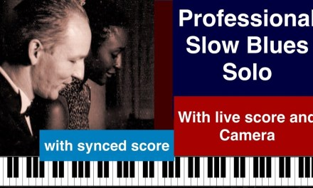 Top Slow Blues Improvisation with live score & camera. Blues Piano lesson with C. Fuchs