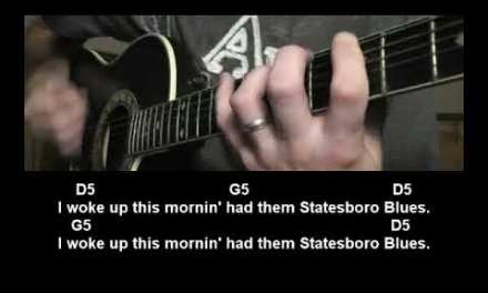 How to play Statesboro Blues by The Allman Brothers Band Guitar Lesson Tutorial