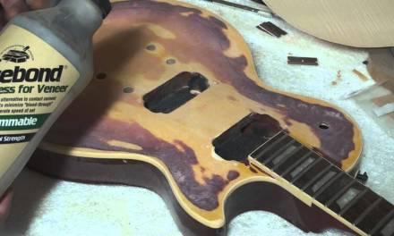 how to veneer a les paul guitar body
