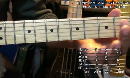 BRICK HOUSE Commodores Guitar Chords TABS + Link To YouTube Lesson EricBlackmonGuitar