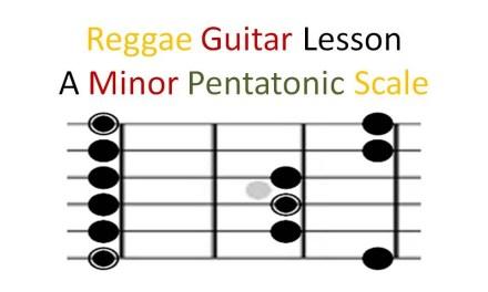 Reggae Guitar Lesson – The A Minor Pentatonic Scale