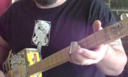 The Classic Chuck Berry Blues Riff – How to Play Cigar Box Guitar by Shane Speal