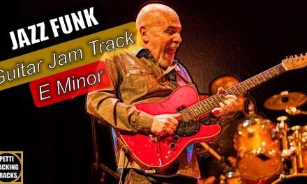 Jazz Funk Guitar Backing Track Jam in E Minor