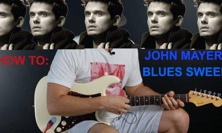 How to John Mayer blues sweep-Guitar tutorial