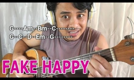 FAKE HAPPY chords acoustic guitar tutorial (Paramore) Karaoke Style