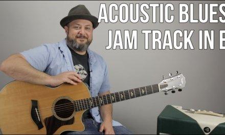 Acoustic Blues Backing Track Key of E – JamTrack