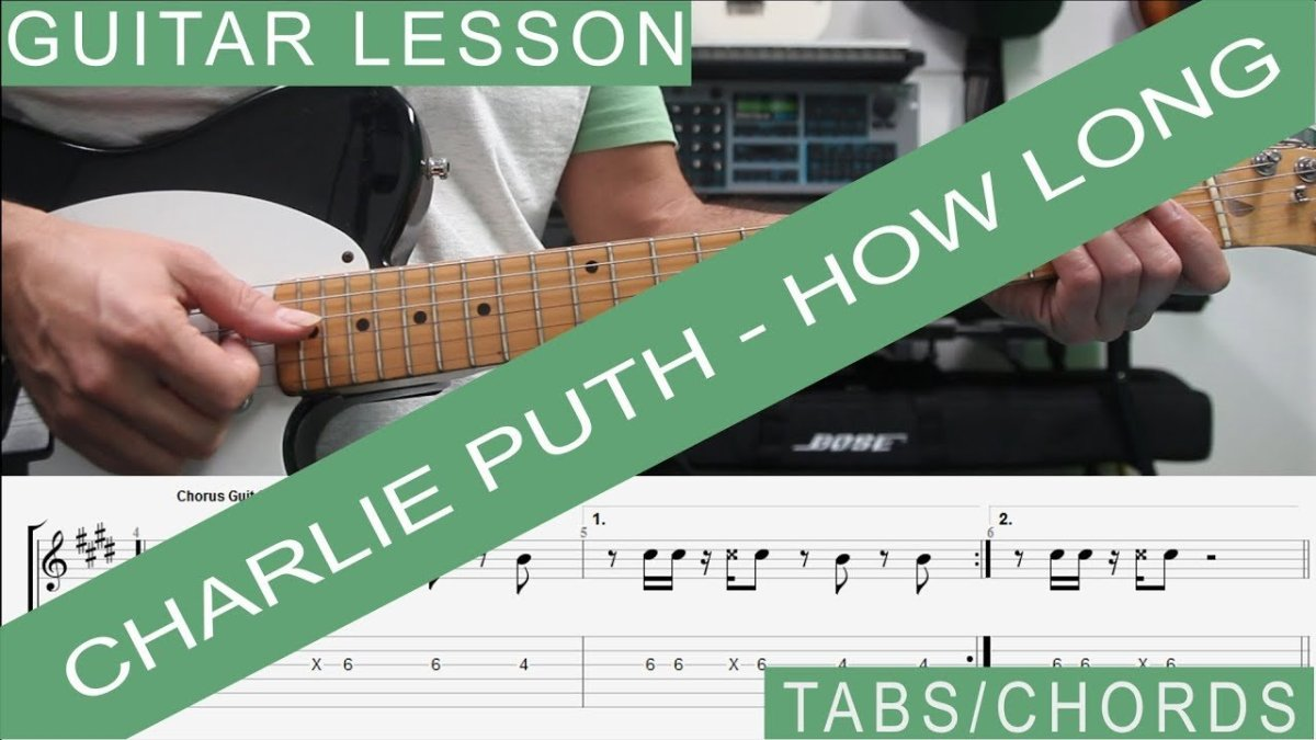 Charlie Puth How Long Guitar Lesson Tab Tutorial How To Play