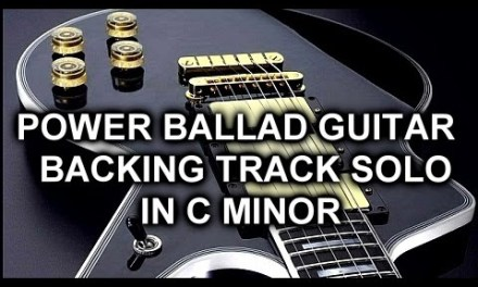 Rock Power Ballad – Guitar Backing Track C Minor Solo