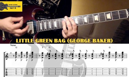 Little Green Bag GUITAR CHORDS and GUITAR TAB (George Baker Selection / Reservoir Dogs Soundtrack)