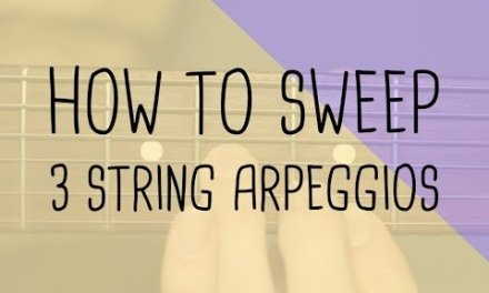 How to play 3 string arpeggios | Sweep technique | Guitar Lesson