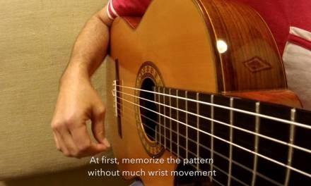 1 Minute Guitar Lesson – The Triplet Rasgueo flamenco technique