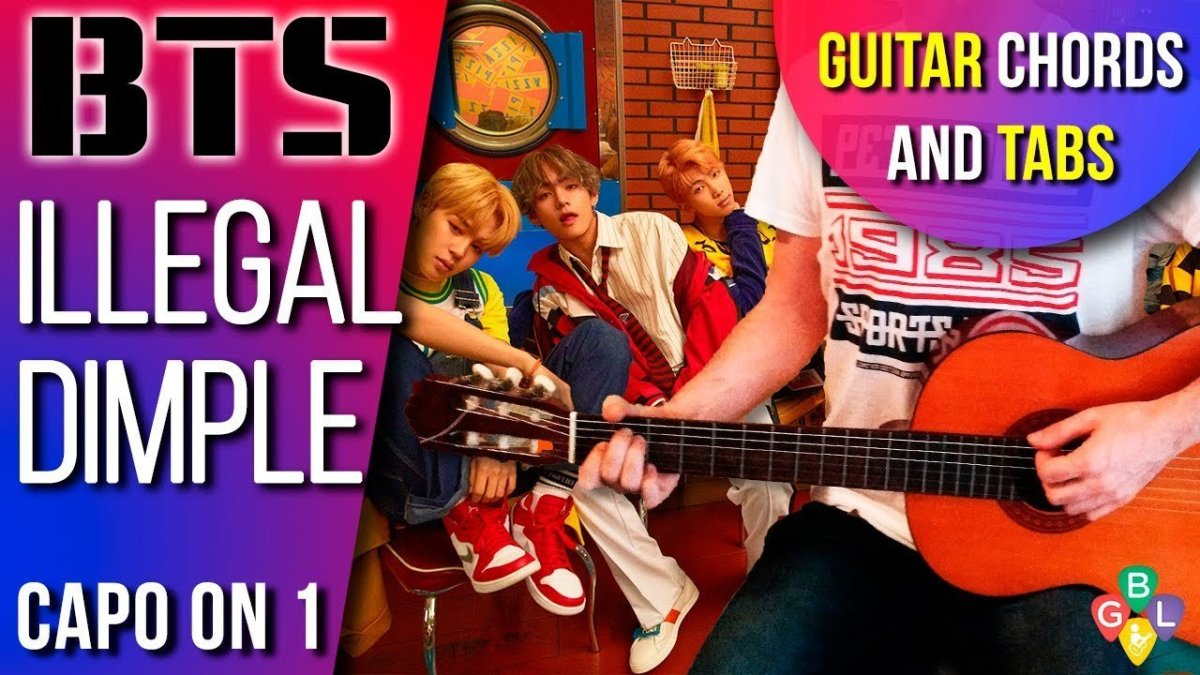 Bts Dimple Acoustic Guitar Lesson Chords And Tab The Glog