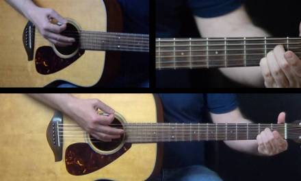 How To Play Three Little Birds On Guitar By Bob Marley Easy Guitar Lesson On Acoustic