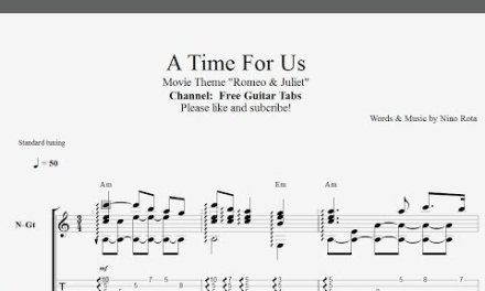 A Time For Us (Romeo & Juliet) – Guitar Tab [Easy yet Great Version] [HD 1080p]