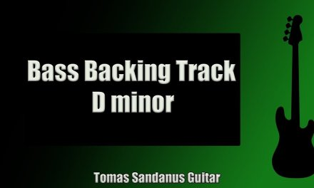 Bass Guitar Backing Track in D Minor Funky Pop Style with Chords and Scale