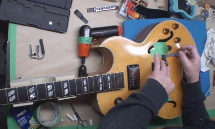 Gibson ES175 Gets a New Bridge