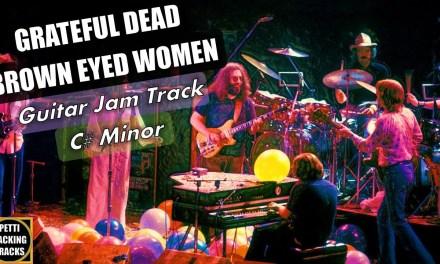 Grateful Dead Brown Eyed Women Guitar Backing Track Jam in C# Minor