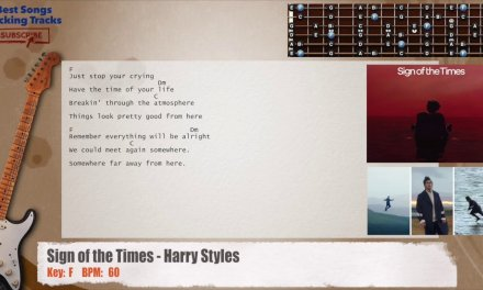 Sign of the Times – Harry Styles Guitar Backing Track with chords and lyrics