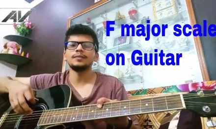 How to play F major scale on guitar Lesson (Hindi)