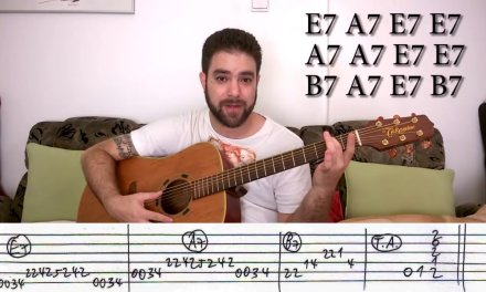 Guitar Lessons. Fingerstyle Tutorial # 19 –  Blues with Walking Bass -Tips  Exercises