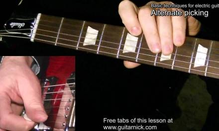 Alternate Picking guitar lesson – WITH TAB! learn how to play electric rock metal guitar