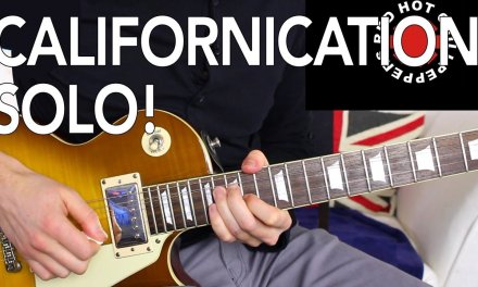 Red Hot Chili Peppers Californication SOLO Guitar Lesson Tutorial ( how to play )