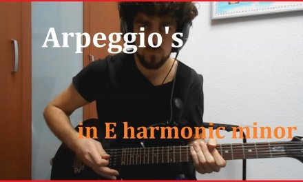 Arpeggio Exercise in E harmonic minor – guitar lesson