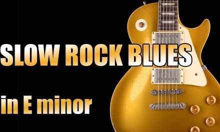 Slow Rock Blues Backing Track in E minor