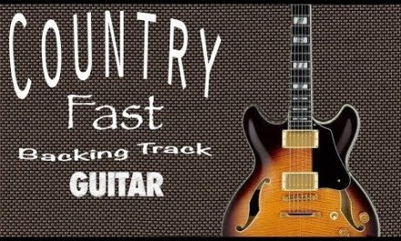 Country Fast Guitar Backing Track in C