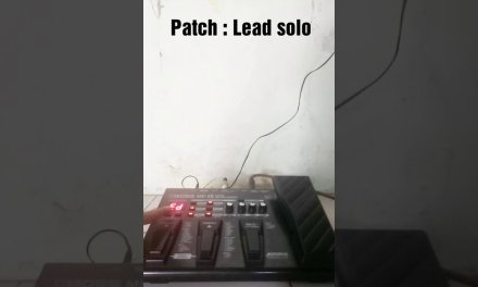 Boss ME-25 Dangdut setting : Patch Lead solo – distorsi – Toni VH D'band D'academy indosiar