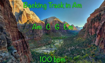 Am Acoustic Guitar Backing Track 100 bpm