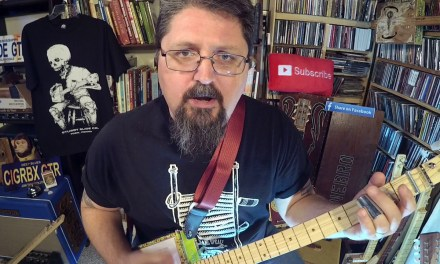 """Lesson:  """"Personal Jesus"""" played John Lee Hooker style on OPEN G cigar box guitar"""