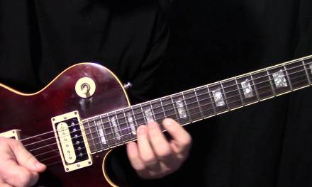 Gary Moore Inspired fast pentatonic blues lick lesson 3